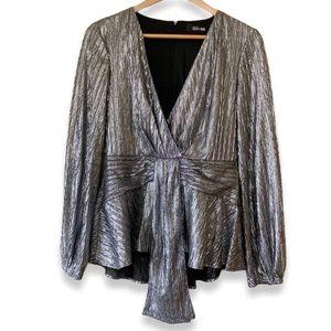 Do + Be metallic shimmer long sleeve blouse medium